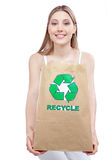 Recycle Paper Bag Royalty Free Stock Photos