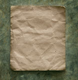 Recycle paper on cement wall Stock Photo