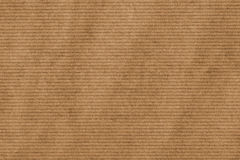 Brown Striped Manila Recycled Kraft Wrapping Paper Crumpled Grunge Texture Royalty Free Stock Images