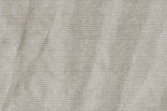 Light Gray Manila Recycled Kraft Wrapping Paper Striped Crumpled Grunge Texture Stock Image