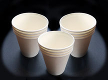 Recycle paper cup Stock Image