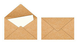 Recycle Paper envelope with Blank White Paper Royalty Free Stock Photos