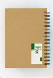 Recycle paper notebook back cover Royalty Free Stock Photography
