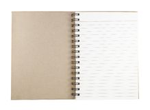 Recycle paper notebook Royalty Free Stock Image