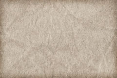 Recycle Paper Off White Coarse Grain Crumpled Vignette Grunge Texture Stock Photos