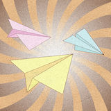 Recycle paper plane Stock Image