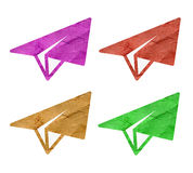 Recycle paper plane Royalty Free Stock Image