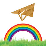 Recycle paper plane Royalty Free Stock Photography
