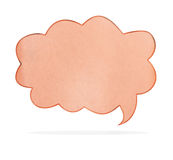 Recycle paper speech bubble Royalty Free Stock Photography