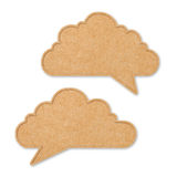 Recycle Paper speech bubble cloud shape Stock Images