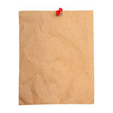 Recycle paper use as note pad isolated white Royalty Free Stock Photos