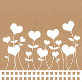 Recycle paper valentine flower Royalty Free Stock Photo