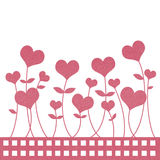 Recycle paper valentine flower Royalty Free Stock Photography