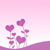 Recycle paper valentine flower Royalty Free Stock Image