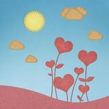 Recycle paper valentine flower Stock Photography