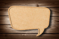 Recycle Paper on Wood Texture Stock Photo