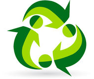 Recycle people logo Stock Photography