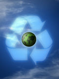 Recycle planet stock illustration