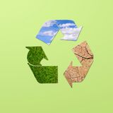 Recycle planet. Royalty Free Stock Image
