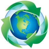 Recycle The Planet Stock Photo