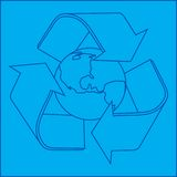 Recycle planet blueprint Stock Photography
