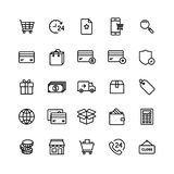 Recycle Plastic Bottle Eco Icon SetE-commerce Shop On-line Icon Set royalty free illustration