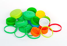 Recycle plastic caps waste Stock Image