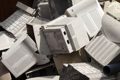 Recycle plastic computers ecology technology Royalty Free Stock Photography