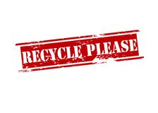 Recycle please Stock Photo