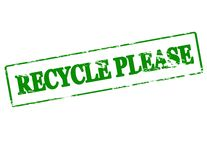 Recycle please Royalty Free Stock Photo