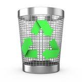 Recycle pode ilustração stock