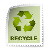 Recycle post stamp Stock Photos