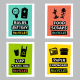 Recycle poster Royalty Free Stock Photography