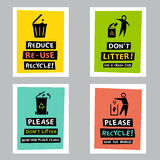 Recycle poster Stock Images