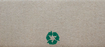 recycle poster design on paper Royalty Free Stock Images
