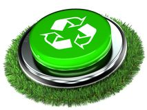 Recycle Push Button Stock Photos