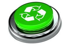Recycle Push Button. A Colourful 3d Rendered 'Recycle' Push Button Royalty Free Stock Images