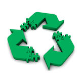 Recycle puzzle Royalty Free Stock Image