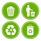 Recycle que desarruma o ícone ilustração royalty free