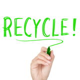 Recycle - recycling text Stock Photo
