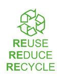 Recycle reduce reuse Royalty Free Stock Photography