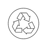 Recycle reduce and reuse. Icon  illustration graphic design Royalty Free Stock Image