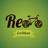 Recycle, reduce and reuse. Illustration of recycling, recycle, reduce and reuse, vector illustration Stock Photos