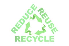 Recycle reduce reuse sign. Recycle sign created with arrow origami paper texture style Stock Images