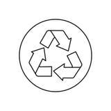 Recycle reduz-se e reutiliza-se ilustração do vetor