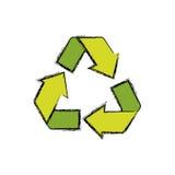 Recycle reduz-se e reutiliza-se ilustração stock