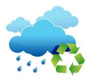 Recycle regnar bevattnar Royaltyfri Fotografi