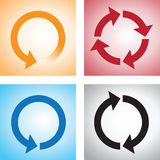 Recycle or reload page icons Stock Photography