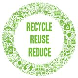 Recycle, Reuse, Reduce illustration. With a white background vector illustration