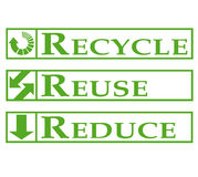 Recycle, Reuse, Reduce. Signs illustration vector illustration